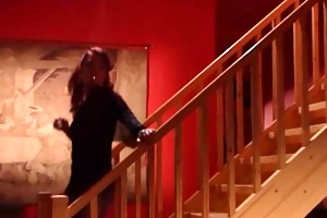 daughter watches red headed step mom receiving