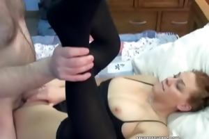 redhead coed mariah is getting drilled by an aged