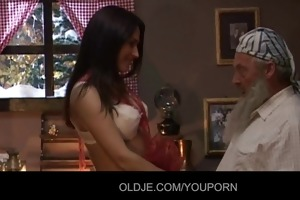 old man received a hawt gift from santa claus