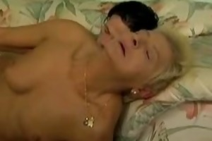 granny halena and her cock juice shooting loverboy