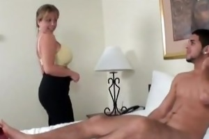 aid young guy to cum