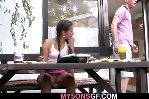 young sweetheart cheats with her bfs daddy