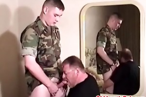 old gay auntie giving blowjob to chubby gay