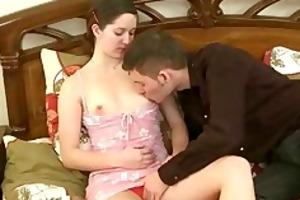 he is dumps his creampie into her cunt