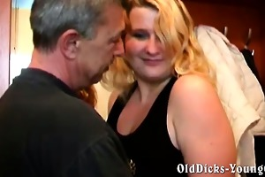 dilettante grandpa with hot blond bbw