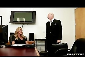 slutty big-tit golden-haired milf copulates