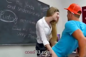 teacher surfing run into young schoolgir