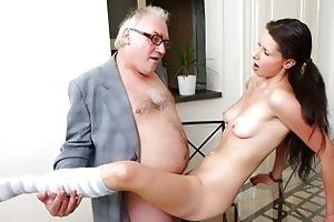 simonas st time blowjob on her tricky old teacher