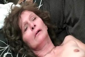 saggy granny in stockings masturbates hairy love