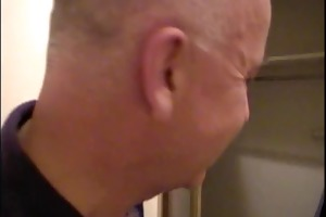 older man copulates hot blonde from behind while