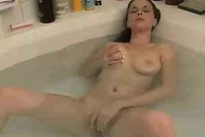 erotic youthful bitch exposes her body while she