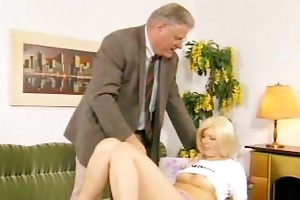 hairy euro chick gets screwed by old chap