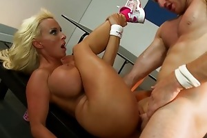 young large titted blond receives roughly screwed