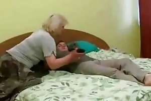 horny older bitch acquire facial from young stud