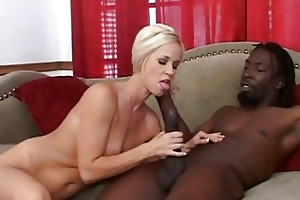 your mother goes for a big darksome cock