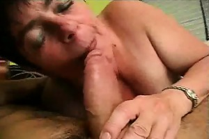 finger group-fucked and pounder engulfing granny