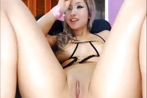 webcam - hot exotic young blond angel teasing
