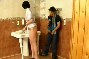 step mother and step son receive fucked