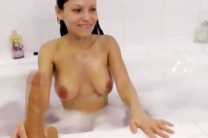 large titted milf mari masturbates in the bathroom