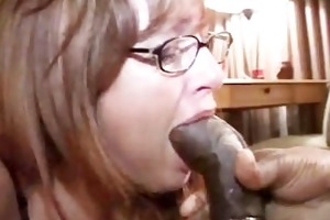wife gags on black penis