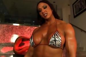 aziani iron amber deluca bodybuilder rides the