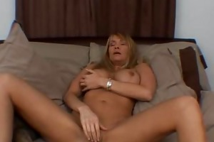 wicked breasty milf solo dildoing bawdy cleft