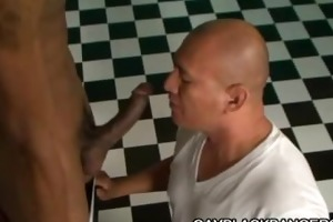 latino muscled dilf screwed by large black cock