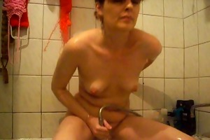 a mother in shower
