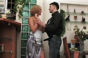 mature russian drilled by a juvenile chap
