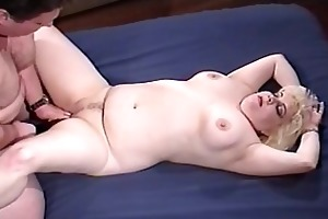 naughty overweight babe taking old daddy pecker