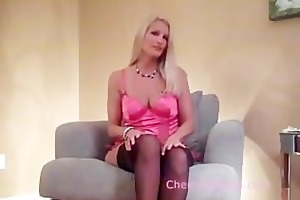 hot blonde in nylons