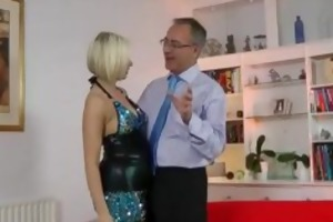 british milf fingering in advance of old fellow