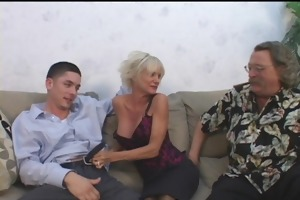 mature mamma seduces juvenile guy with hubby
