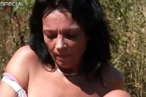 horny milf receives fucked hard outdoor free part3