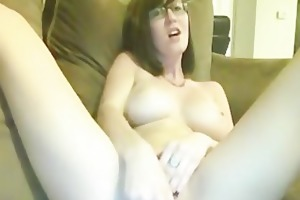 ribald talking slut masturbates