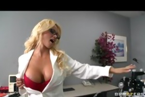 bigtit blond wench milf doctor drilled hard by