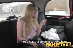 faketaxi huge shaggy ginger pussy struggles with