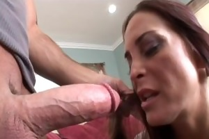 brunette cougar takes overspread in cum