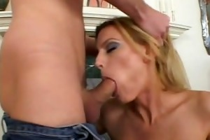 blonde mommy fingered and ass drilled