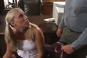 blond schoolgirl sucking very old teacher
