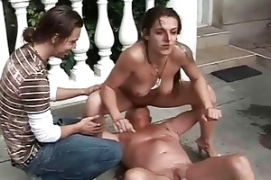 grandpa and lad fucking and pissing on hot angel