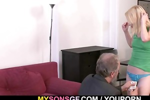 she receives punished and drilled by geezer