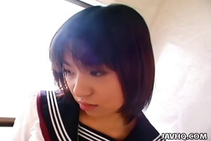 young japanese schoolgirl gives her st oral sex