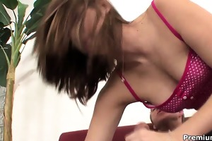 juvenile and slutty brooke logan jumping on her