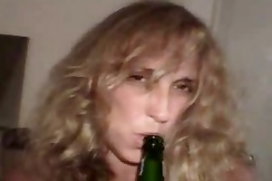 old crackhead slut sucking and fucking to fund