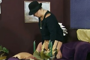 horny old woman receives her cunt drilled part2