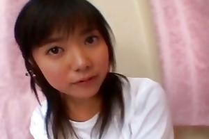 young and shy japanese teens giving a flawless bj