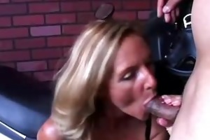ginger is a sexy blonde mother i who likes the