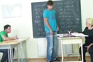 horny pupils bang old teacher