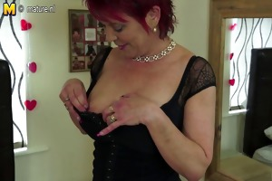 pierced british mother with hungry old cunt